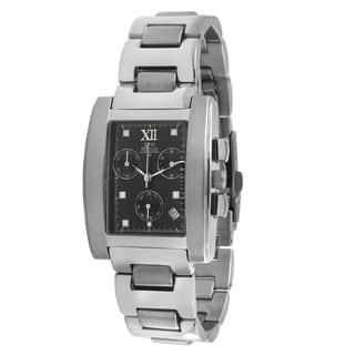 Gino Franco Men's Rectangular Black Dial Chronograph Watch|https://ak1.ostkcdn.com/images/products/7894980/Gino-Franco-Mens-Rectangular-Black-Dial-Chronograph-Watch-P15275896.jpg?impolicy=medium