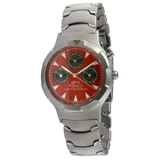 Gino Franco Men's Red Dial Calendar Watch