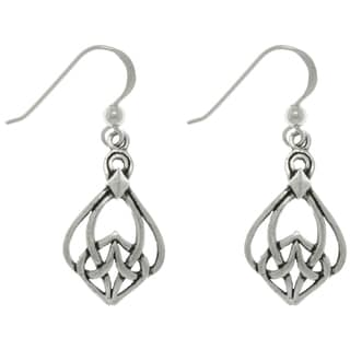 Carolina Glamour Collection Sterling Silver Celtic Weave Dangle Earrings