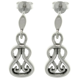 Carolina Glamour Collection Sterling Silver Celtic Slip Knot Earrings