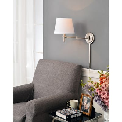 Copper Grove Leyden Brushed Steel Wall Swing Arm