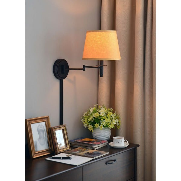 Design Craft Haney Blackened Oil Rubbed Bronze 14-inch Wall Swing Arm