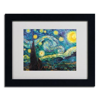 Vincent van Gogh 'Starry Night' Framed Matted Art - Multi