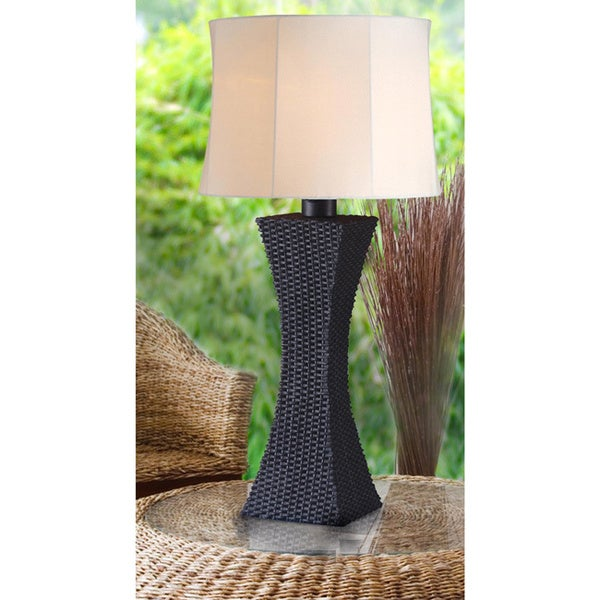 Outdoor Table Lamps For Sale: Shop Outdoor Woven Table Lamp
