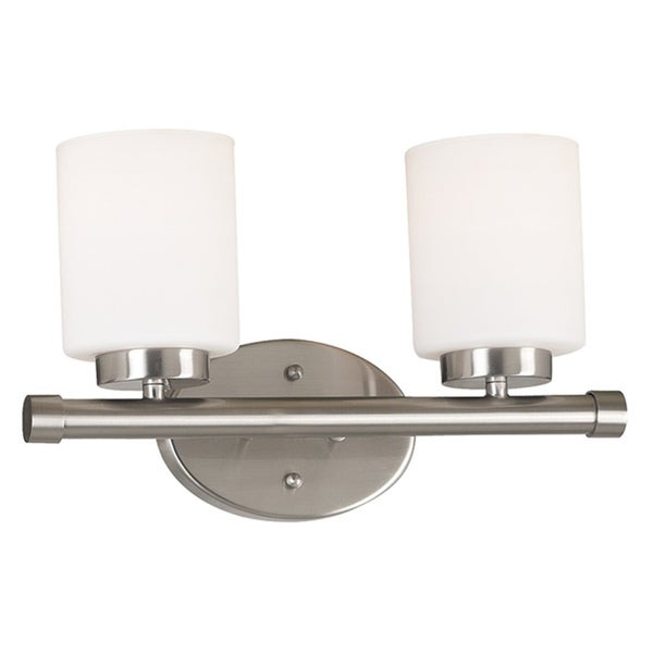 'Cupello' 2-Light Frosted Glass Vanity Light Fixture