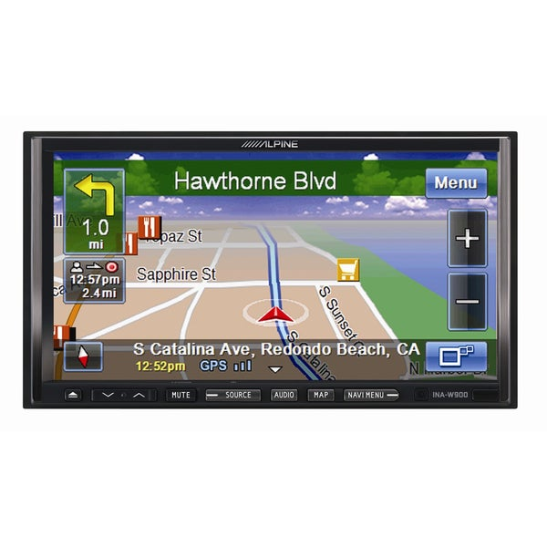 alpine 7 39 inch double din gps navigation bluetooth dvd cd usb am fm receiver new in non retail. Black Bedroom Furniture Sets. Home Design Ideas