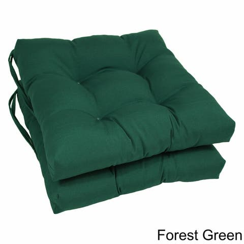 Blazing Needles 16-inch Dining Chair Cushion (Set of 2)