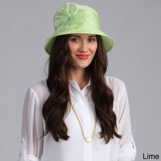 Swan Hat Women's Bucket Crystal Detail Packable/Crushable Hat