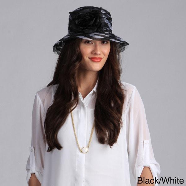 Swan Hat Women's Cloche Braided Crinoline Hat