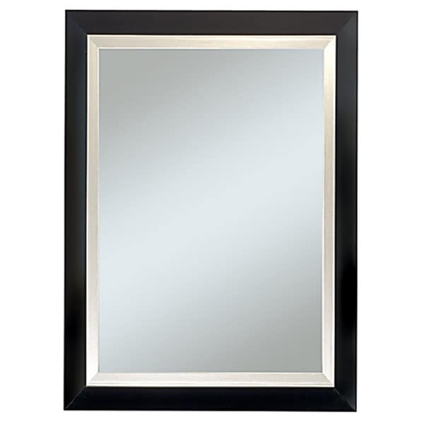 Carson Black and Silver 29 x 35-inch Framed Mirror - Free Shipping Today - Overstock.com - 15276862