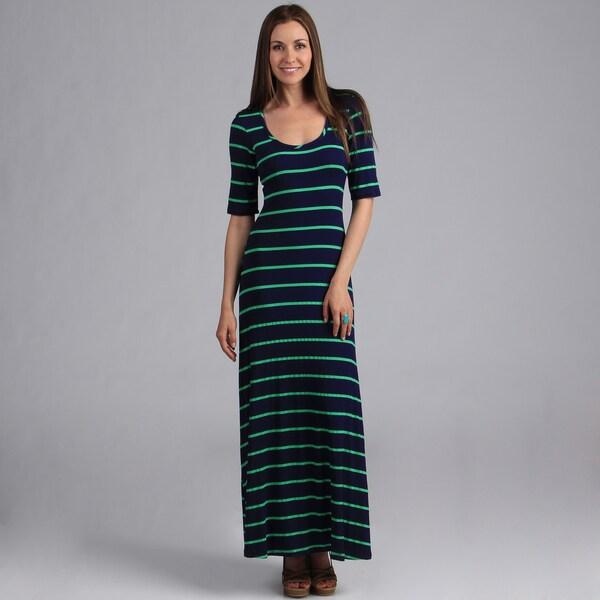 Shop 24 7 Comfort Apparel Women S Elbow Length Maxi Dress Free