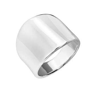 Handmade Cool Plain Wide Front Design .925 Silver Ring (Thailand) (More options available)