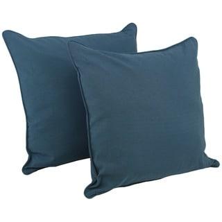 Blazing Needles 25-inch Solid Corded Floor Pillows Set (Set of 2)