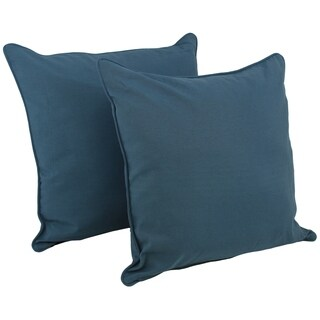 Blazing Needles 25-inch Solid Corded Floor Pillows (Set of 2)