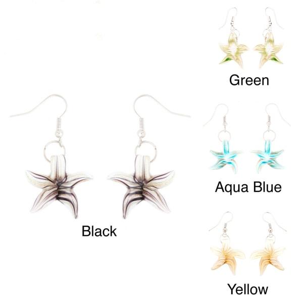 Murano Inspired Glass Starfish Earrings
