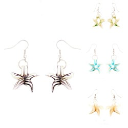 Murano Inspired Glass Starfish Earrings