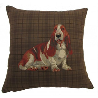 Corona Decor 'Best Friends' Plaid 18-inch Throw Pillow