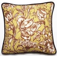 Corona Decor Green Floral 18-inch Throw Pillow