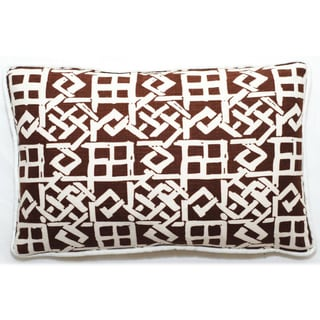 Corona Decor Brown/ White Lattice Design 17 x 11-inch Throw Pillow
