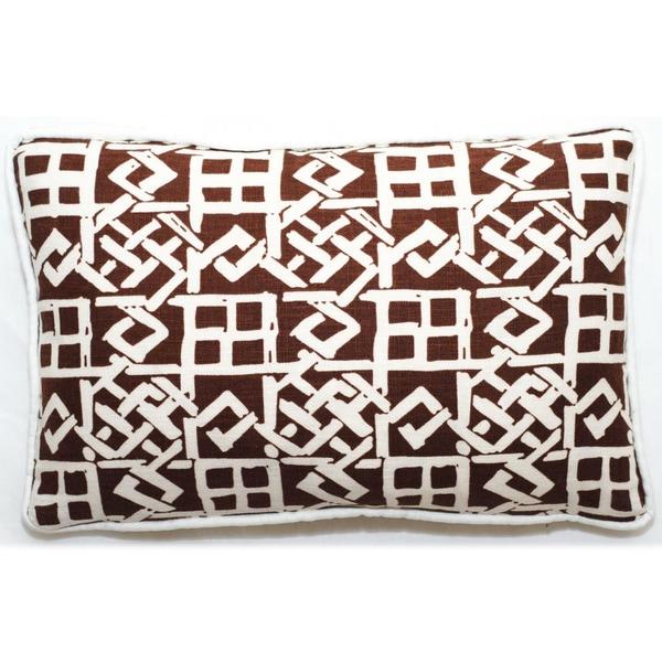 Corona Decor Brown/ White Lattice Design 17 x 11-inch Throw Pillow