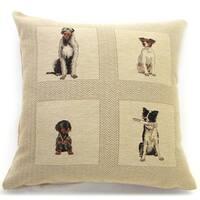 Corona Decor 'Best Friends' Dog Design 18-inch Throw Pillow