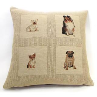 Corona Decor 'Best Friends' Dog Pattern 18-inch Throw Pillow|https://ak1.ostkcdn.com/images/products/7896266/7896266/Best-Friends-Dog-Pattern-Throw-Pillow-18-inch-P15276968.jpg?impolicy=medium