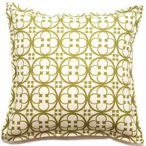 Corona Decor Clover Pattern Outdoor Living 18-inch Throw PIllow