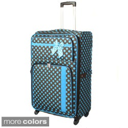 Polka Dot Delight 25-Inch Expandable Lightweight Spinner Upright Luggage