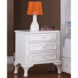 Picket House Jeslyn 3-drawer White Nightstand