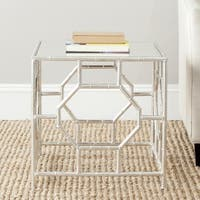 Safavieh Treasures Rory Silver/ Mirror Top Accent Table