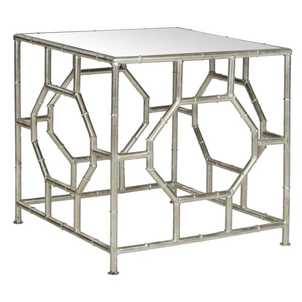 Safavieh Treasures Rory Silver/ Mirror Top Accent Table   Free Shipping  Today   Overstock.com   15277080