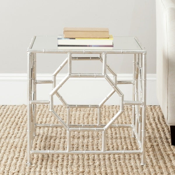 """Safavieh Treasures Rory Silver/ Mirror Top Accent Table - 19"""" x 19"""" x 19"""""""