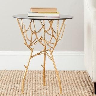 Link to Safavieh Treasures Tara Gold/ Black Top Accent Table Similar Items in Living Room Furniture