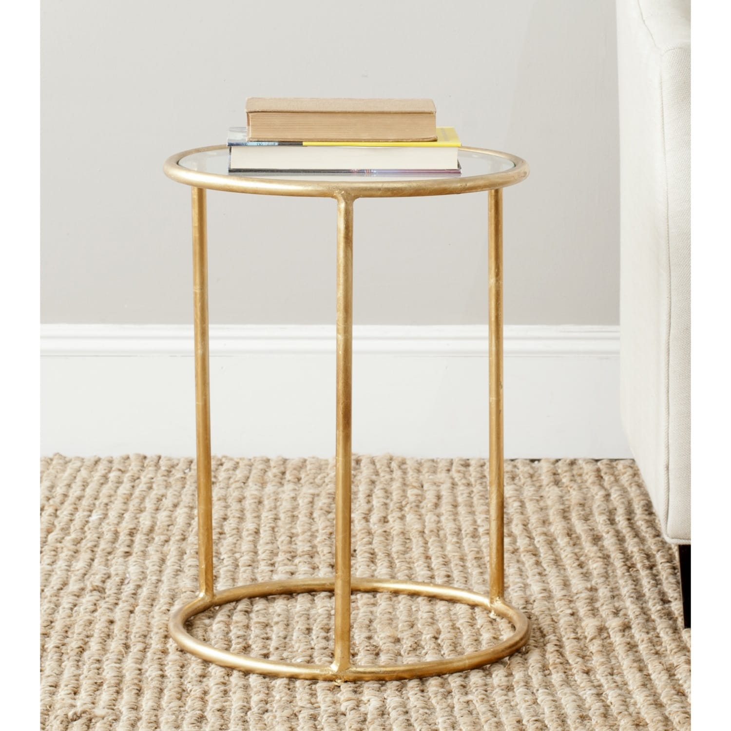 - Shop Safavieh Treasures Shay Gold/ Glass Top Accent Table - 15
