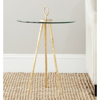 Safavieh Treasures Delma Gold/ Glass Top Accent Table