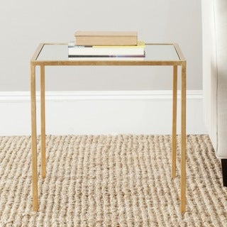 Safavieh Treasures Kiley Gold/ Mirror Top Accent Table