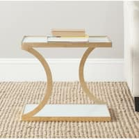 Safavieh Treasures Sullivan Gold/ White Top Accent Table