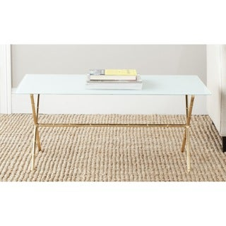 Safavieh Treasures Brogen Gold/ White Top Accent Table