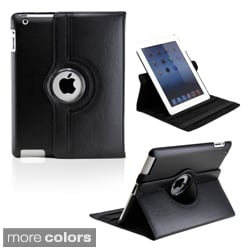 Gearonic Rotating Dual Layer Leather iPad Case with Smart Cover