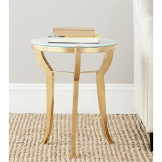 Safavieh Treasures Ormond Gold/ White Top Accent Table
