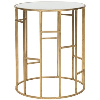 """Link to SAFAVIEH Treasures Doreen Gold/ White Top Accent Table - 17.5"""" x 17.5"""" x 21"""" Similar Items in Living Room Furniture"""