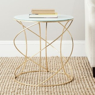 Safavieh Treasures Cagney Gold/ White Top Accent Table