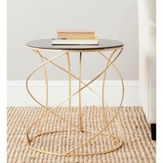 """Link to Safavieh Treasures Cagney Gold/ Black Top Accent Table - 20"""" x 20"""" x 21.2"""" Similar Items in Living Room Furniture"""