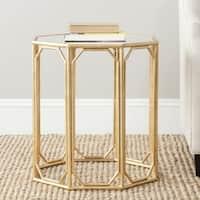 Safavieh Treasures Muriel Gold/ Mirror Top Accent Table