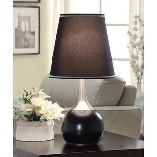 Tribecca Home Elisha Contempo Black Teardrop Touch Table Lamp