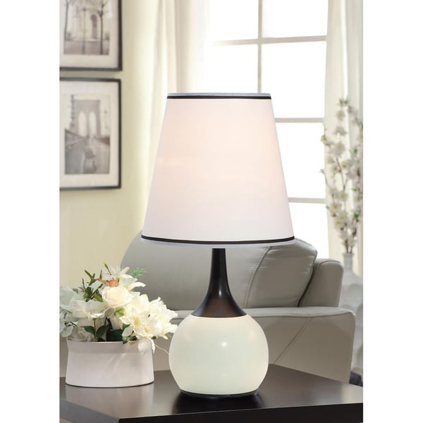 Tribecca Home Elisha Contempo White Teardrop Touch Table Lamp