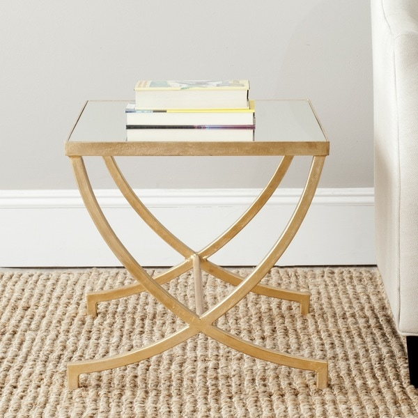 Safavieh Treasures Maureen Gold/ Mirror Top Accent Table