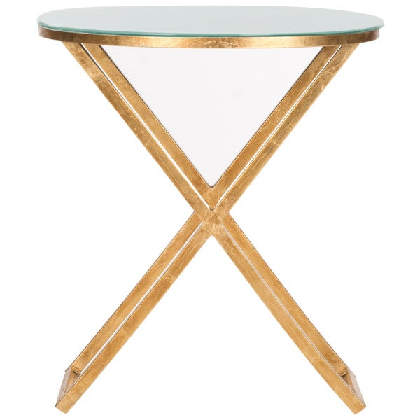 Safavieh Treasures Riona Gold/ White Top Accent Table   Free Shipping Today    Overstock.com   15277116