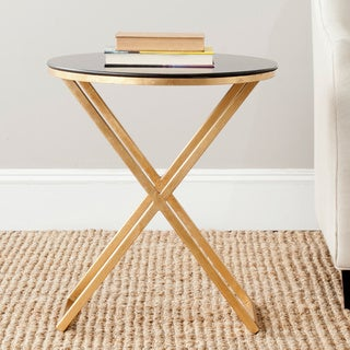 """Link to Safavieh Treasures Riona Gold/ Black Top Accent Table - 20"""" x 20"""" x 22.9"""" Similar Items in Living Room Furniture"""