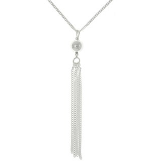 Carolina Glamour Collection Sterling Silver Ball and Tassel Necklace